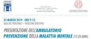 Presentazione ambulatorio Prevenzione Malattia Mentale