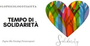 #lopsicologotiaiuta. Progetto solidarietaà coronavirus. Una consulenza psicologica gratuita